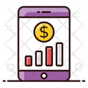 Online Graph Growth Chart Business Analytics Icon