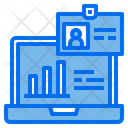 Id Card Laptop Chart Icon