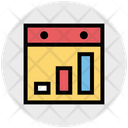 Online Graph Online Analysis Website Icon