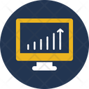 Online Graph Online Infographics Seo Icon