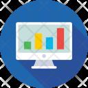 Online Graph Infographics Icon