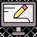 Online Graphic Design Graphic Design Screen Icon