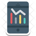 Online Graphs Online Infographics Mobile Charts Icon