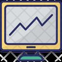 Online Graphs Online Infographics Diagram Icon