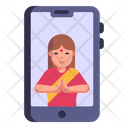 Online Greeting Icon