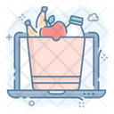 Online Food Food Bucket Online Grocery Icon