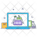 Online Grocery Icon