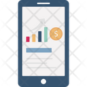 Mobile Graph Market Analysis Marketing Icon