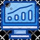 Filled Line Analytics Diagram Icon