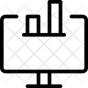 Computer Bar Chart Icon