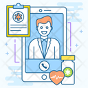 Online Consultation Emergency Services Online Healthcare Icon