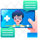Online Healthcare Medical Online Icon