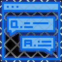 Customer Service Speech Bubble Web Icon