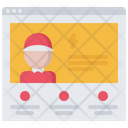 Online hire worker Icon