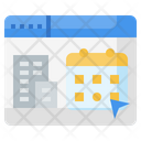 Booking Travel Time And Date Icon