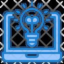 Online Idea Idea Laptop Icon