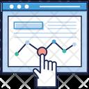 Online Infographic Data Infographic Data Analytics Icon