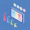 Online Infographic Graph Analytics Graphic Presentation Icon
