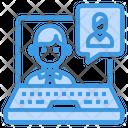 Laptop Portfolio Interview Icon