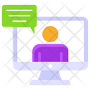 Online Interview Online Chat Online Communication Icon