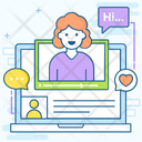 Online Interview Online Chat Video Communication Icon