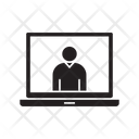 Online Interview Laptop Meeting Icon