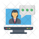 Interview Recruitment Online Icon