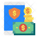 Money Smartphone Shield Icon