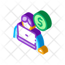 Business Coin Laptop Icon