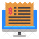Computer Bill Invoice Icon