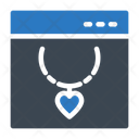 Necklace Online Jewelry Icon