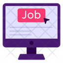 Online Job Job Search Job Opportunity Icon