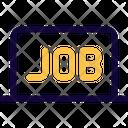 Online Job Online Business Online Working Icon