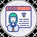 Online Job Application Internet Icon
