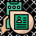 Online Job Application Job Profile Icon
