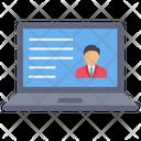 Online Job Profile Cv Resume Icon