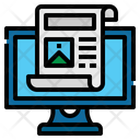 Journal Computer Elearning Icon