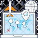 Global Location Worldwide Destination Worldwide Location Icon
