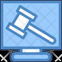 Online Justice Judge Justice Icon