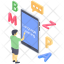 Online Language Learning Online Language Class Virtual Education Icon