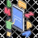 Online Language Learning Icon