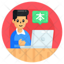 Online Interpreter Online Language Learning Online Language Tutor Icon