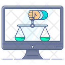 Online Law Balance Scale Online Weighing Icon