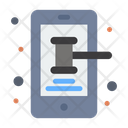 Online Law Mobile Phone Icon