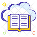 Cloud Book Cloud Library Cloud Computing Icon