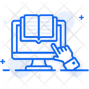 Online Book Ebook Elearning Icon