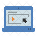 Online Learning Study Icon