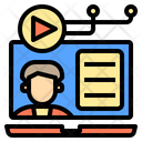Online Learnning Digital Learning Icon