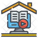 Online Learning Education Video Icon