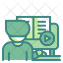 Online Learning Online Class Book Icon